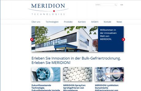 Screenshot MERIDION Technologies