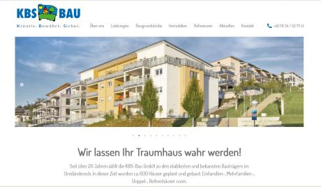 Screenshot KBS-Bau GmbH