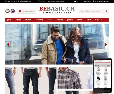 Screenshot Relaunch: bebasic.ch