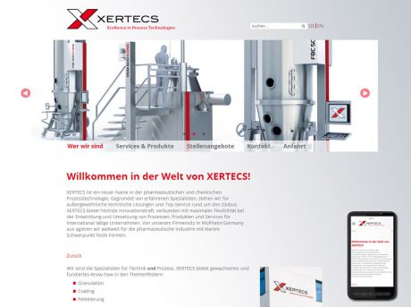 Screenshot XERTECS GmbH